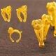 피주얼리 똥강아지1 반지 3.75g 순금 24k 99.9 돌 반지 백일 돌반지 기념 선물용 상품이미지