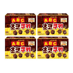 LOTTE ABC Chocolate Cookies 152gx4pcs