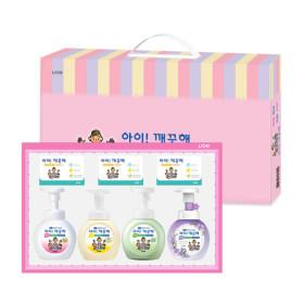아이깨끗해 종합선물세트 손세정제 250ml 4종+비누 3개