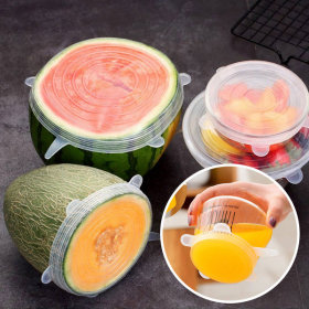 실리콘 덮개 6종 세트 뚜껑 위생락 랩 음식보관 밀폐