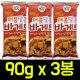 (무배)매콤달콤 바게트 90gx3봉/갈릭바게트/새우깡 상품이미지