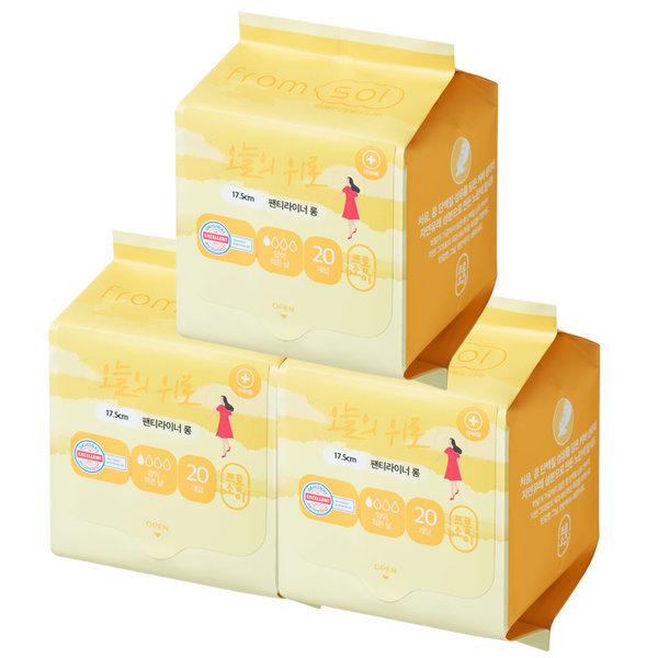 프롬소이 생리대 팬티라이너롱 3팩 : 콩섬유탑시트 상품이미지