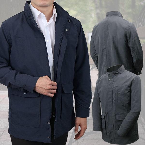 남성 기능성 사파리 점퍼 자켓 바람막이 출근복 가을 상품이미지