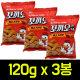 (무배)꼬끼오스낵 매콤카레맛 120g x 3봉/닭다리과자