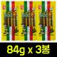 월드컵맛기차콘 84g x 3봉 쫀드기/아폴로/브이콘/과자