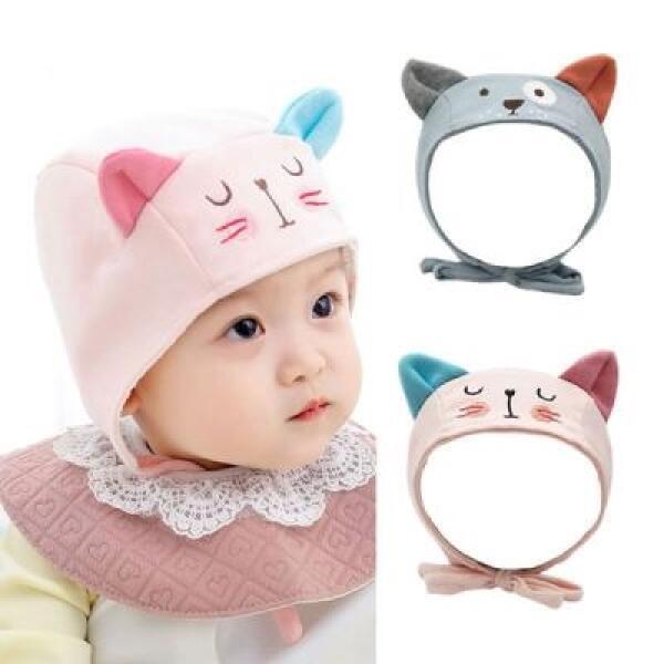 아트박스/엠케이 바둑이 고양이 쫑긋 유아 모자(원사이즈) 204215 상품이미지