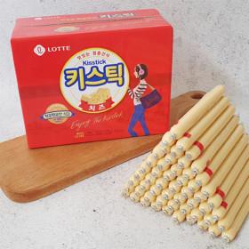 롯데 청춘간식 체다치즈 키스틱 15g 100개 아이들간식