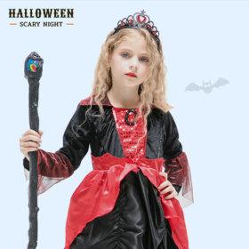 할로윈 클래식마녀 3종세트(레드) 아동 유아 드레스
