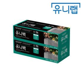 테이팩스/유니랩 위생비닐백 유니백(소 200매 x 2P)