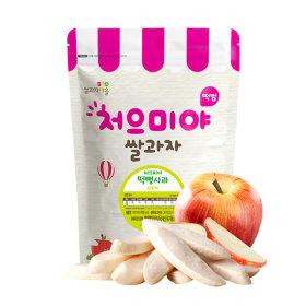 Ssalgwaja ma-eul/pop rice-apple/baby rice snack 10+3