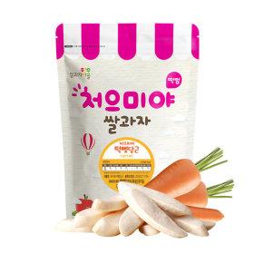 Ssalgwaja ma-eul/pop rice-carrot/baby rice snack 10+3