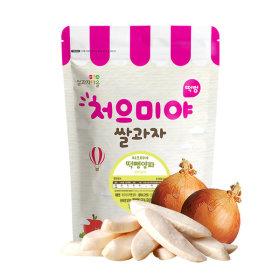 Ssalgwaja ma-eul/pop rice-onion/baby rice snack 10+3