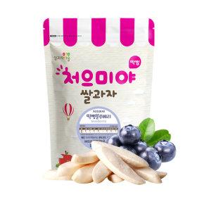 Ssalgwaja ma-eul/pop rice-blueberry/baby rice snack 10+3