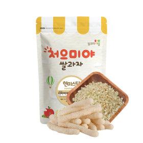 Ssalgwaja ma-eul/unpolished rice stick/baby rice snack 10+3