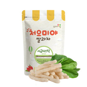 Ssalgwaja ma-eul/spinach stick/baby rice snack 10+3