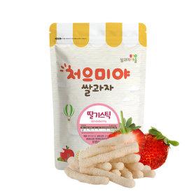 Ssalgwaja ma-eul/strawberry stick/baby rice snack 10+3
