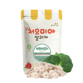 Ssalgwaja ma-eul/puffing-broccoli/baby rice snack 10+3