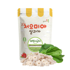 Ssalgwaja ma-eul/puffing-spinach/baby rice snack 10+3