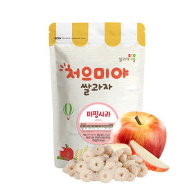 Ssalgwaja ma-eul/puffing-apple/baby rice snack 10+3