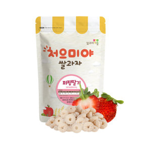 Ssalgwaja ma-eul/puffing-strawberry/baby rice snack 10+3