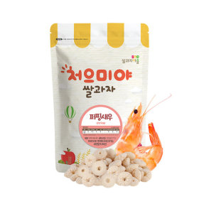 Ssalgwaja ma-eul/puffing-shrimp/baby rice snack 10+3