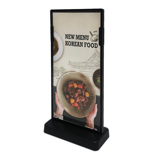 아크릴 식당 카페 메뉴판 T형 100x200 블랙 CNM6263 상품이미지