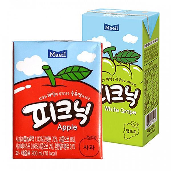 피크닉(사과) 200mlx24팩x2박스 상품이미지