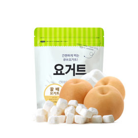 Ssalgwaja ma-eul/pear yogurt/freeze drying/baby rice snack 10+3