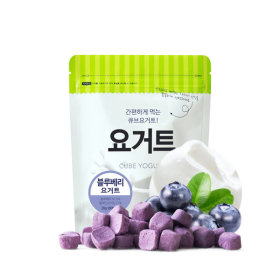 Ssalgwaja ma-eul/blueberry yogurt/freeze drying/baby rice snack 10+3