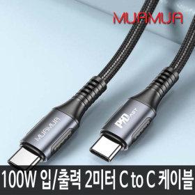 CtoC 롱케이블 100W 초고속충전 입/출력 C타입 노트북