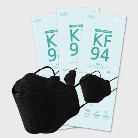 30 sheets fine dust mask black  4-ply filter KF94