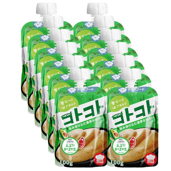 카카 소고기+아보카도 100gx12개 어덜트독 / 2510l 상품이미지