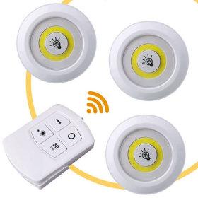 LED 무선라이트(조명등 3개 + 리모컨) 120루멘 무드등
