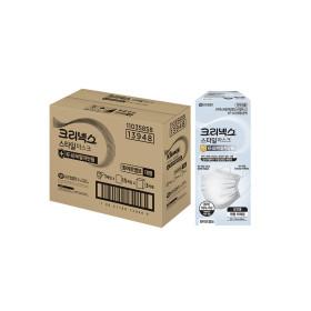 크리넥스 비말차단스타일마스크흰색 성인용L45p(1BOX)