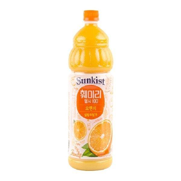 해태음료  해태 훼미리헬시100 오렌지 1.5L x4 낱개 상품이미지
