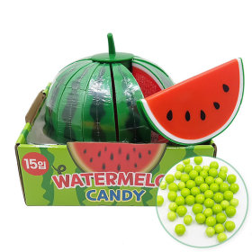 Watermelon Shaped Candy Box 25g 15pcs / Sweet and Sour Candy Snack