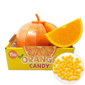 Orange-shaped Candy Box 25g 15pcs / Sweet and Sour Candy Snack