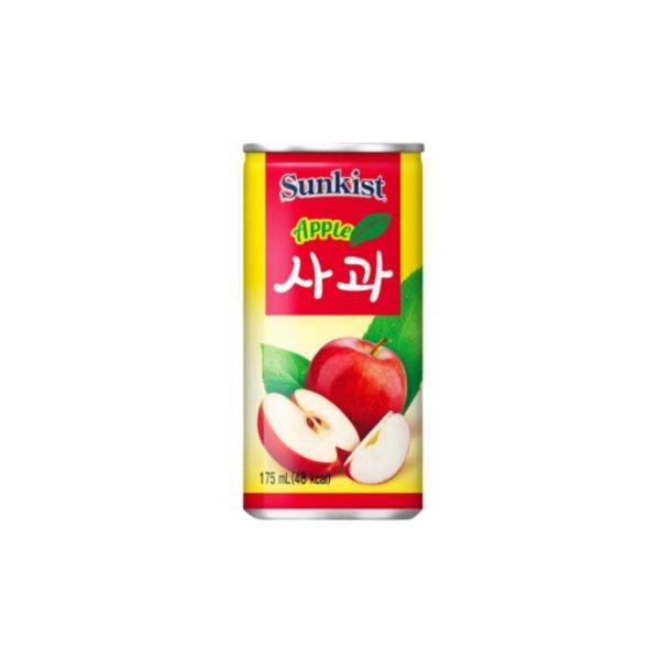 미니 캔음료 음료수 썬키스트 사과 (175ml) 상품이미지