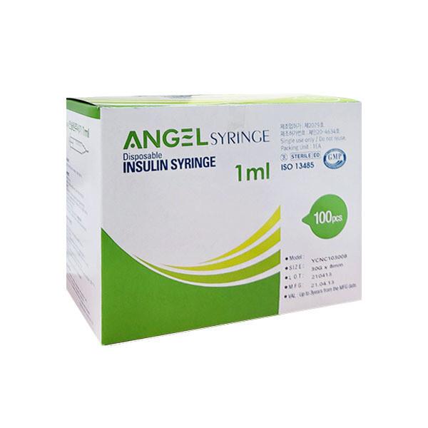 엔젤 일회용 인슐린 주사기 1ml 8mm 30G 1박스 상품이미지