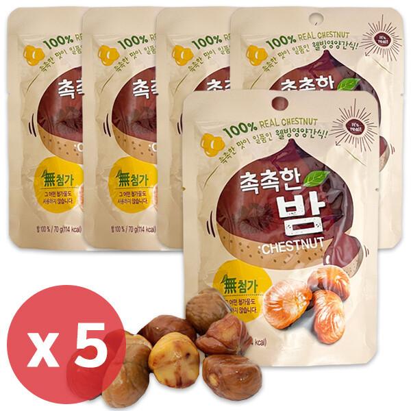 사무실 간식 촉촉한 밤 70g x 5팩/프레첼/맛밤/고구마 상품이미지