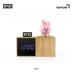 Baby BT21 LED Figure Table Clock COOKY