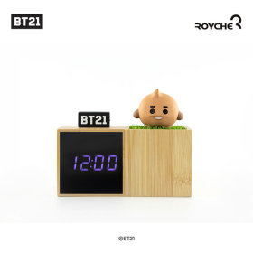 Baby BT21 LED Figure Table Clock SHOOKY