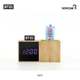 Baby BT21 LED Figure Table Clock MANG