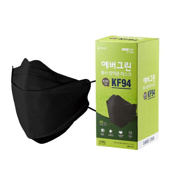 에버그린 KF94 황사방역용 마스크 184(대형) 100매 세트 상품이미지