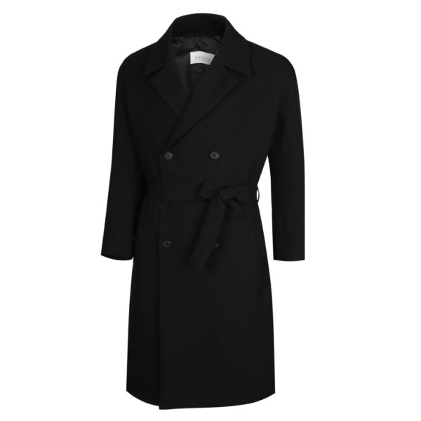 남성 국산 캐주얼 간절기 롱 트렌치 자켓 코트 MR-CTA-M6-검정/ 파파브로 상품이미지
