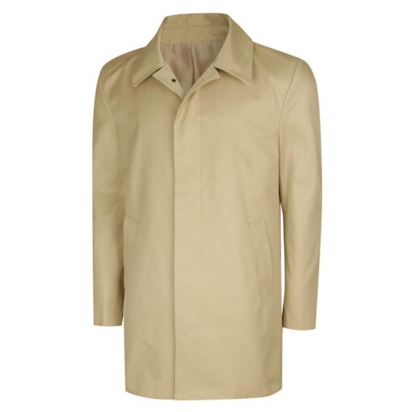 남성 국산 캐주얼 카라넥 싱글 트렌치 자켓 코트 MR-CTA-M1-베이지/ 파파브로 상품이미지