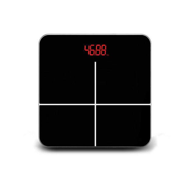 충전식 디지털 체중계 블랙/정확한 전자 몸무게측정기 상품이미지