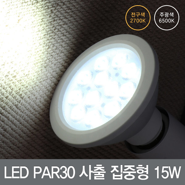 LED전구/형광등/램프/전등/조명 PAR30 사출집중형 15W 상품이미지
