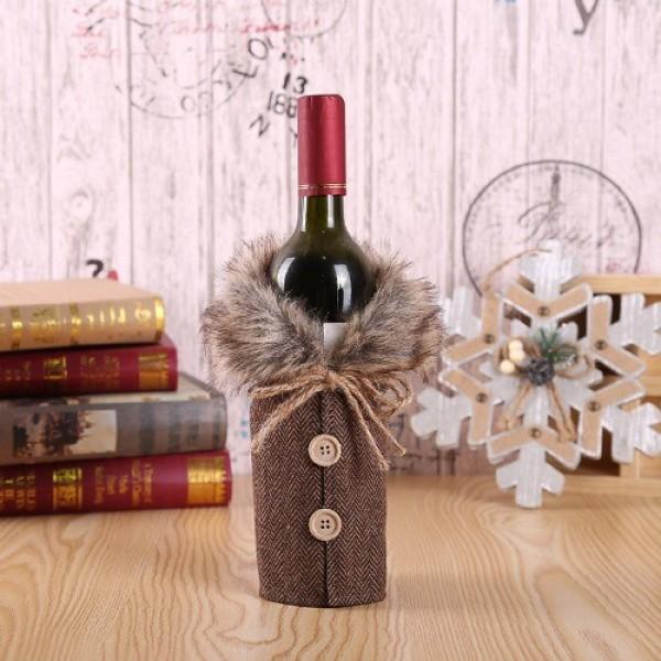 크리스마스 장식 와인 파우치 주머니 퍼 상의 브라운 상품이미지
