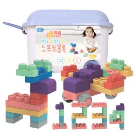 유아블럭 해피 소프트블럭 장난감 80pcs / 블럭장난감